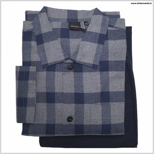 5700aa0f63 N25922 Tioss col. 135MF avio - Pigiama uomo in tessuto camicia flanella,  puro cotone